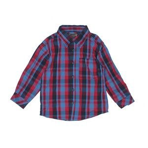 DKNY | 2T red & blue plaid button up tee